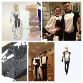 Черно-белый костюм для балета Николая Баскова
