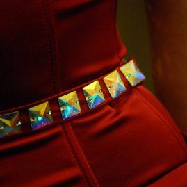 Красное платье Swarovski клуб «Рай»