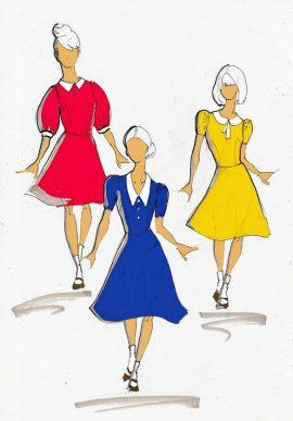 Платья для девочек Военный спектакль