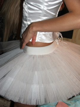 Белая балетная пачка ночной клуб «First»