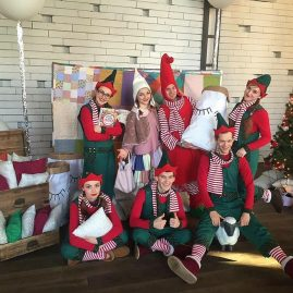Костюм Красного Новогоднего Гнома «Семейное кафе АндерСон»